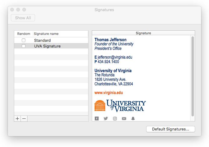 MAC Outlook | University of Virginia
