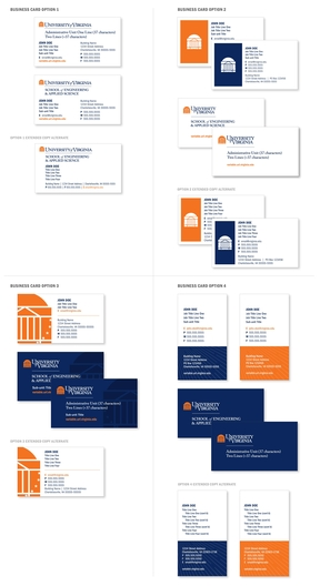 UVA Business Card Examples