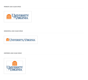 Additional Examples of UVA Logo Clear Space
