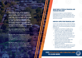This is an example of copy from a UVA financial aid brochure.