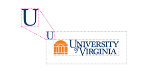 Example of UVA Logo Clear Space