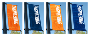 Examples of Lettering Used on Light-Pole Banners