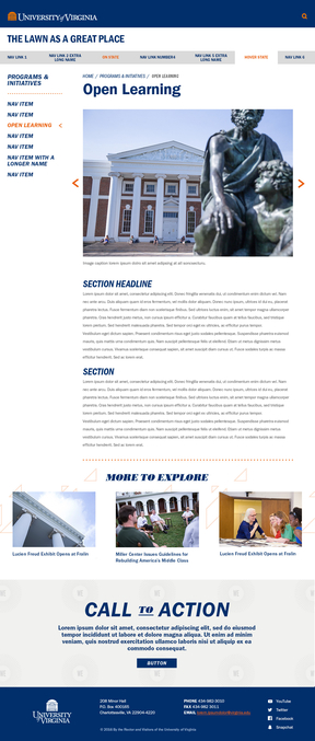 Illustration of UVA Content Page Template