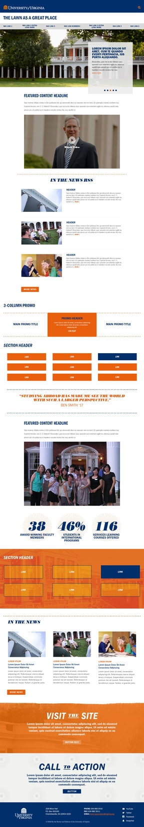 Illustration of UVA Story Page Template